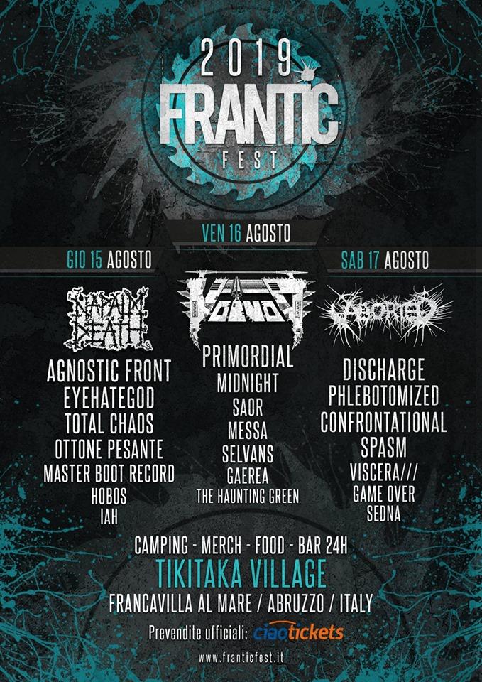 FRANTIC FEST 2019 POSTER